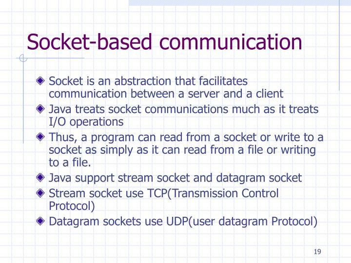 Socket-based communication