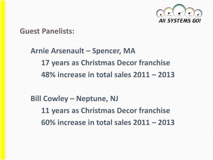 Guest Panelists: