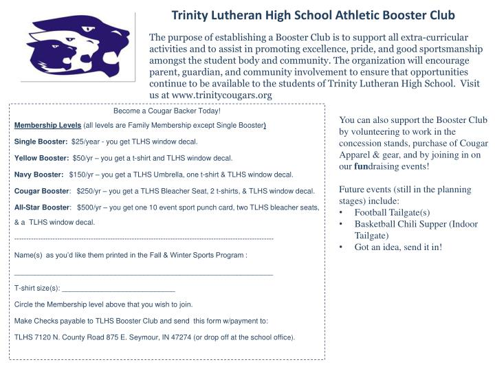Trinity Lutheran High School Athletic Booster Club