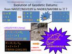 evolution of geodetic datums from nad27 ngvd29 to nad83 navd88 to