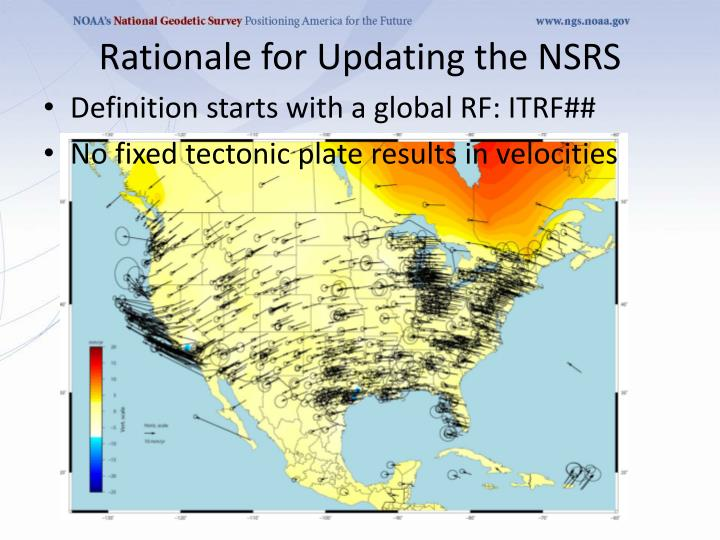 Rationale for updating the nsrs