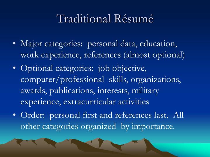 job on resume present tense