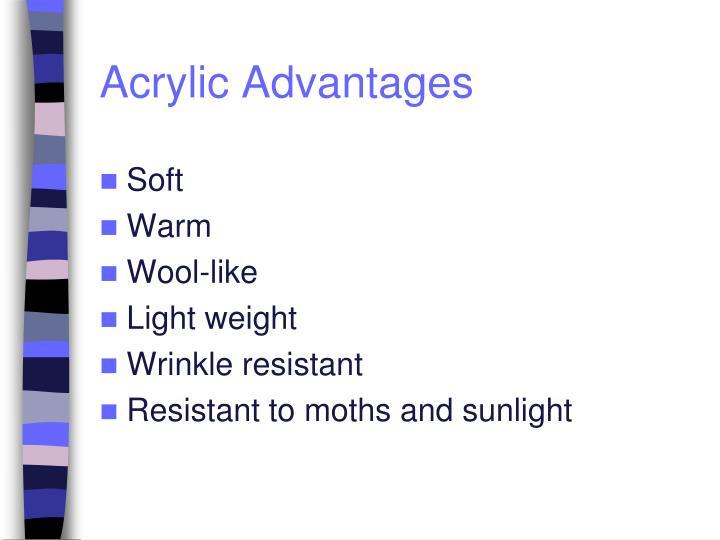 Acrylic Advantages