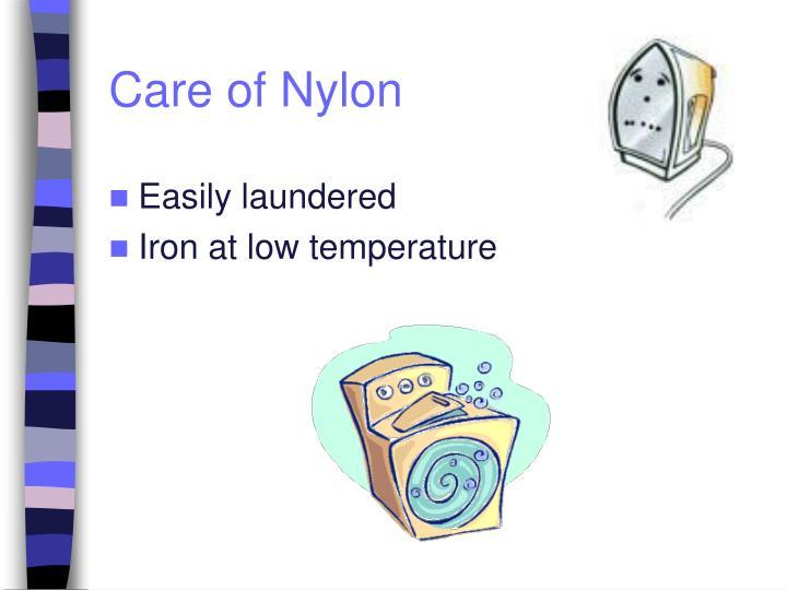 Care of Nylon