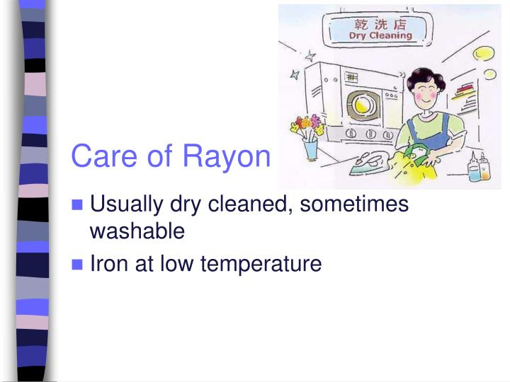 Care of Rayon