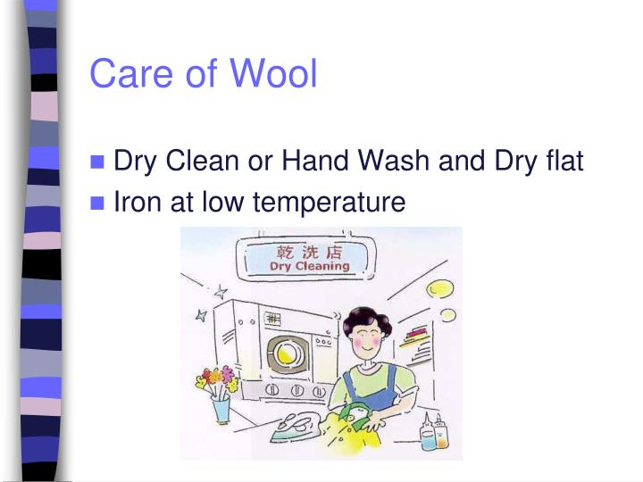 Care of Wool