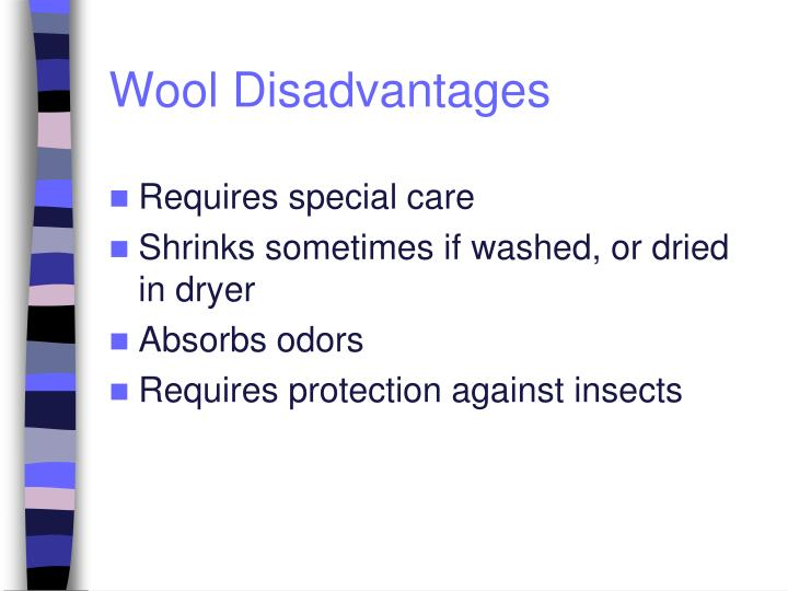 Wool Disadvantages