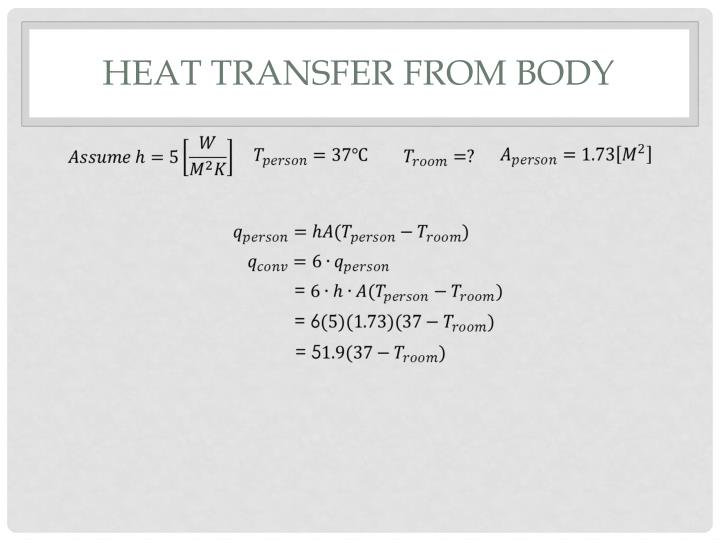 Heat transfer from body
