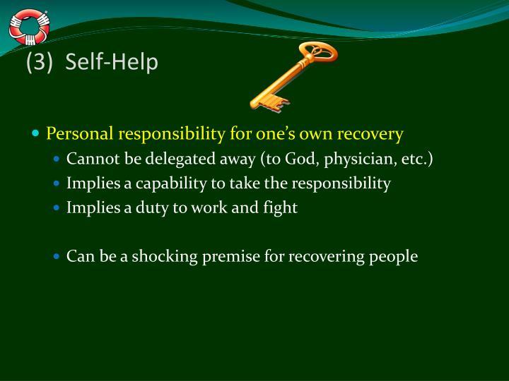 (3)  Self-Help