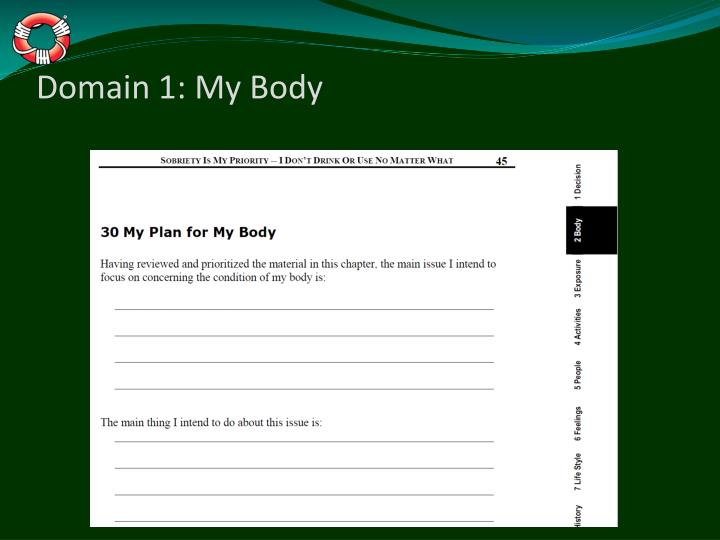 Domain 1: My Body