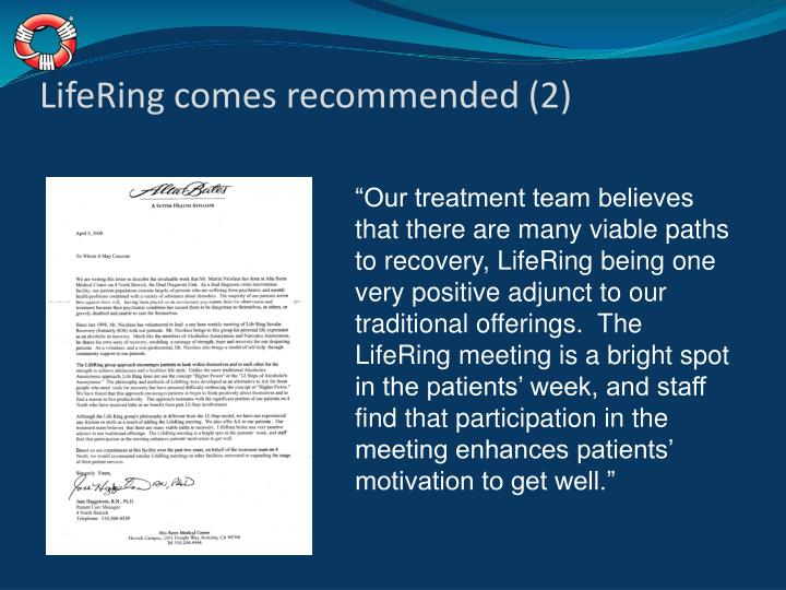 LifeRing comes recommended (2)