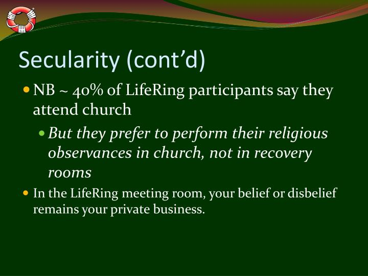 Secularity (cont'd)