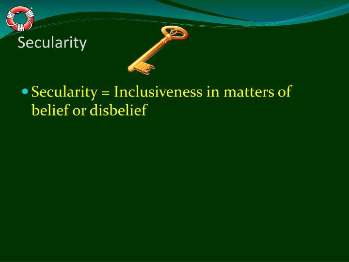 Secularity