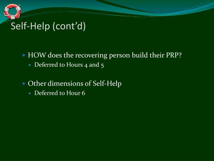 Self-Help (cont'd)