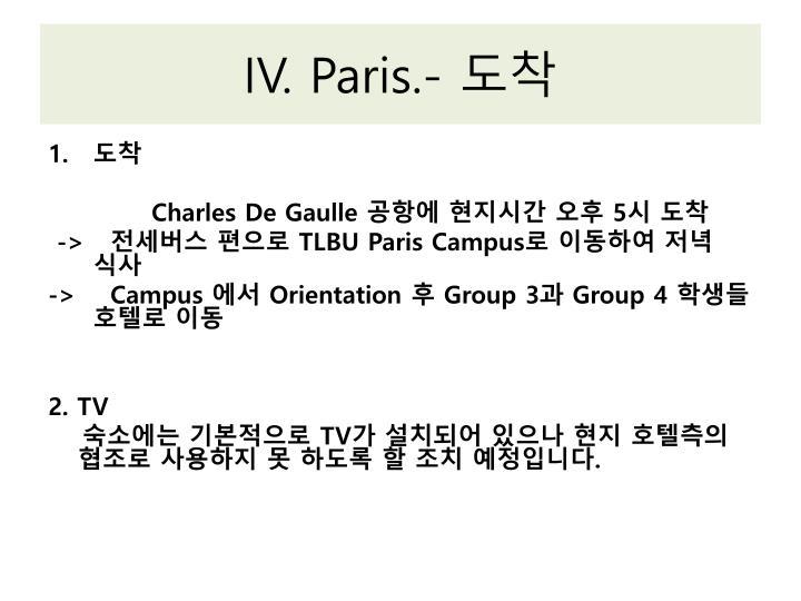 IV. Paris.-