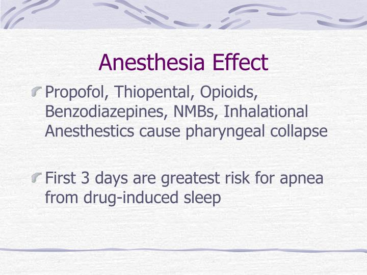 Anesthesia Effect