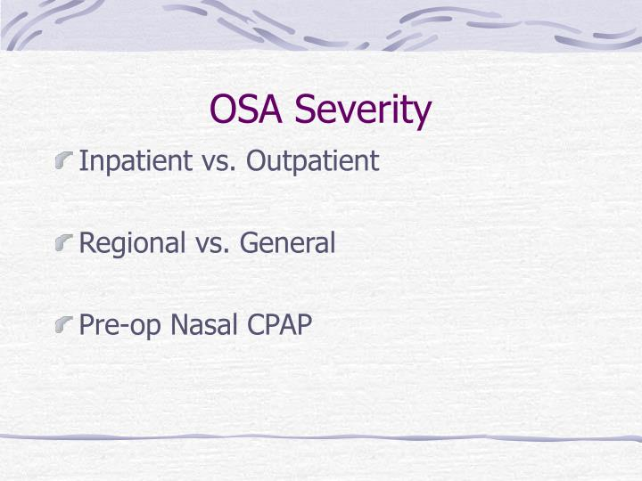 OSA Severity