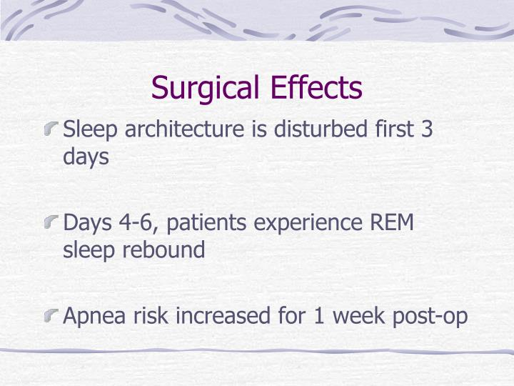 Surgical Effects