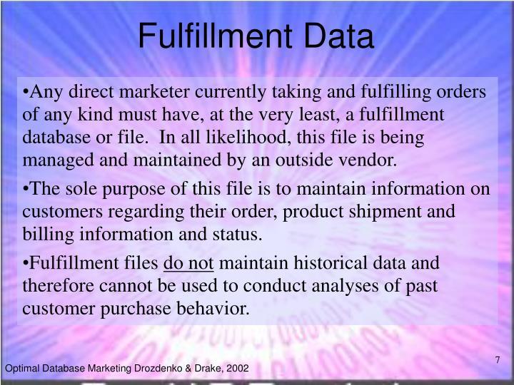 Fulfillment Data