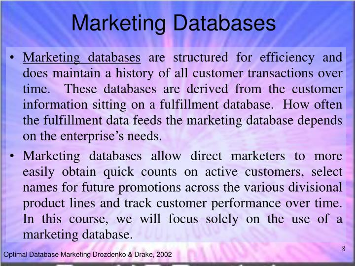Marketing Databases