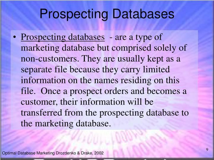Prospecting Databases