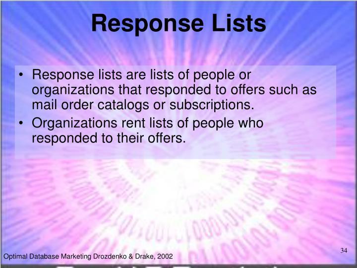Response Lists