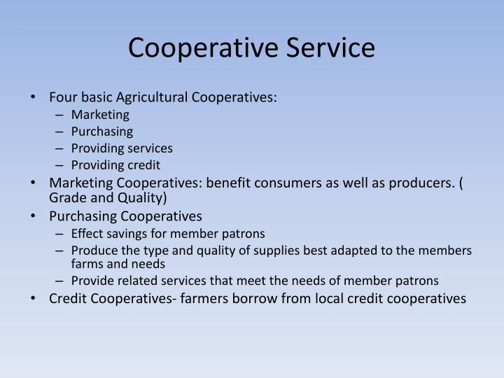 Cooperative Service