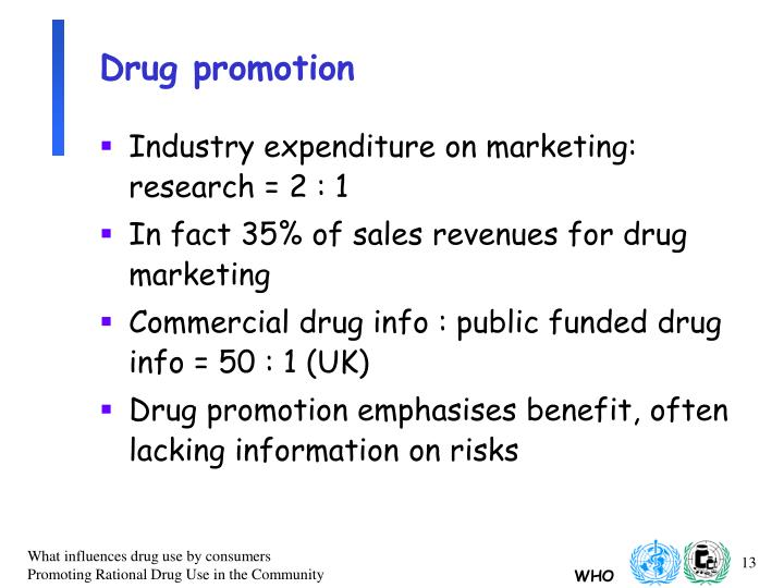 Drug promotion