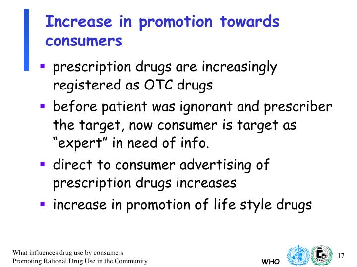 Increase in promotion towards consumers
