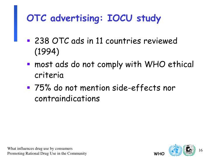 OTC advertising: IOCU study