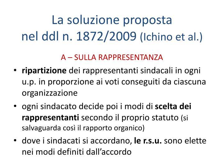 La soluzione proposta