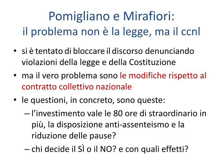 Pomigliano e Mirafiori: