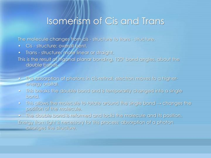 Isomerism of Cis and Trans