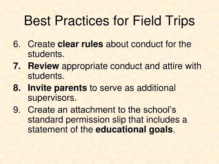 Best Practices for Field Trips