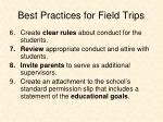 best practices for field trips1