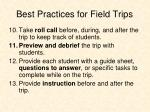 best practices for field trips2