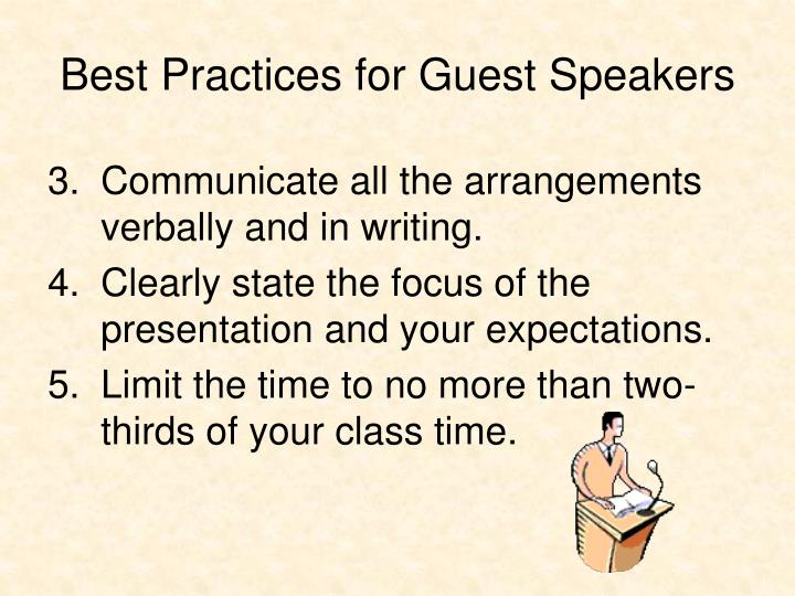 Best Practices for Guest Speakers