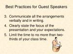 best practices for guest speakers1