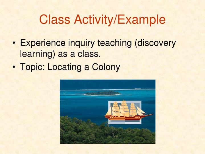 Class Activity/Example