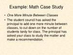 example math case study