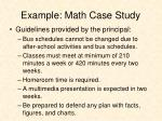example math case study1