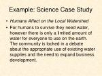 example science case study