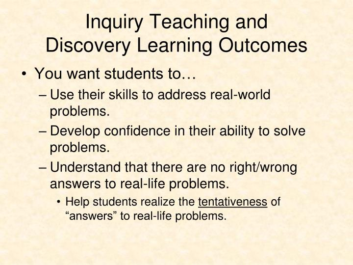 Inquiry Teaching and