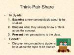think pair share