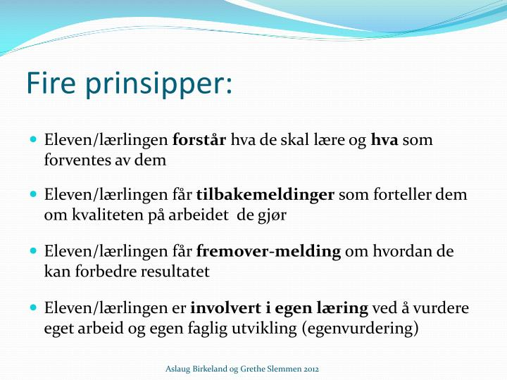 Fire prinsipper:
