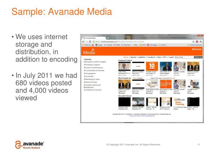 Sample: Avanade Media