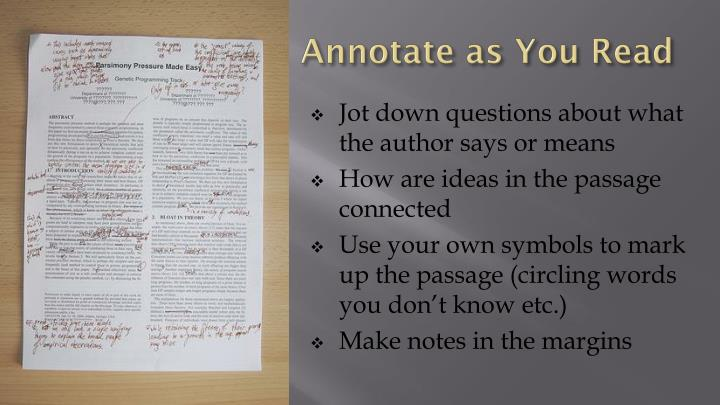 Annotate as You Read