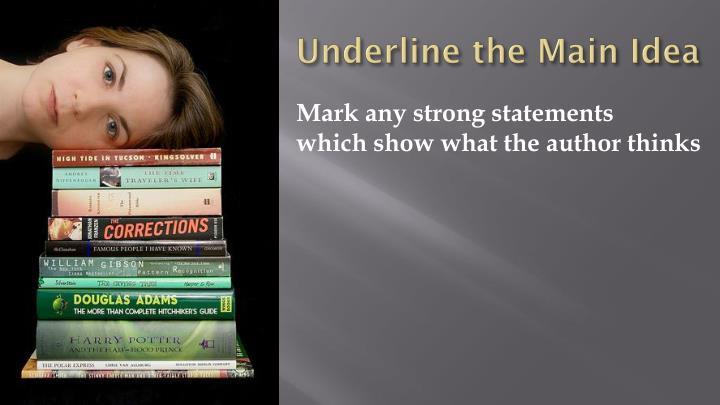 Underline the Main