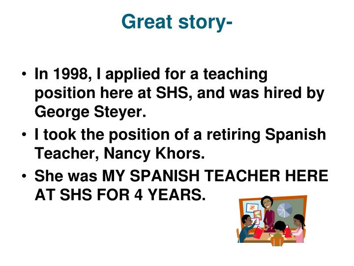 Great story-