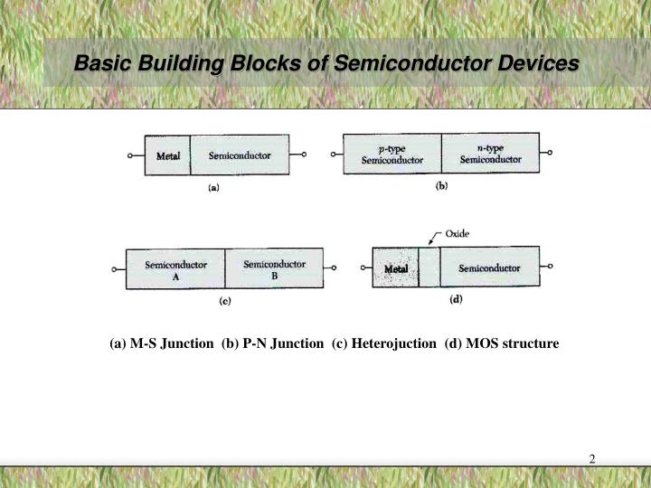 Basic building blocks of semiconductor devices